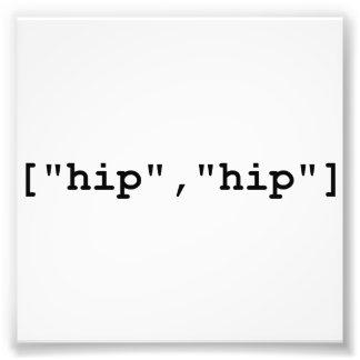 Hip Hip Hooray Programming Array Photo Print