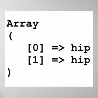 Hip Hip Hooray Programming Array Poster