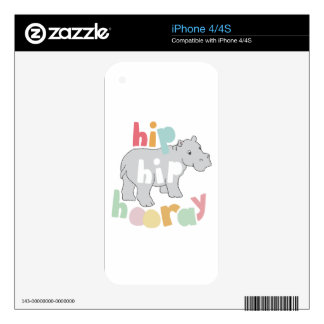 Hip Hip Hooray Skin For iPhone 4