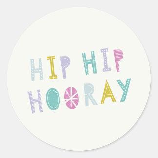Hip Hip Hooray Sticker - Lime