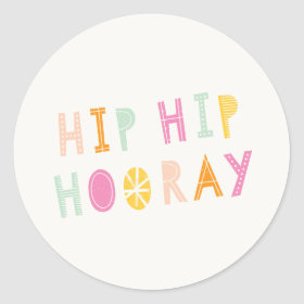 Hip Hip Hooray Sticker - Orange