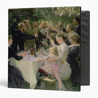 Hip Hip Hurrah! Artists' Party at Skagen, 1888 3 Ring Binder