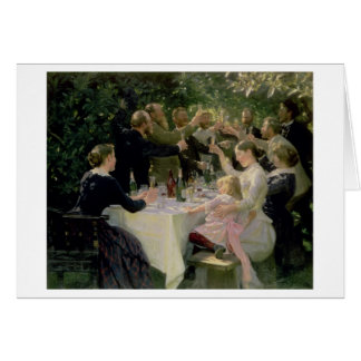 Hip Hip Hurrah! Artists' Party at Skagen, 1888 Card