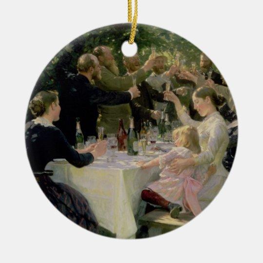 Hip Hip Hurrah! Artists' Party at Skagen, 1888 Ceramic Ornament