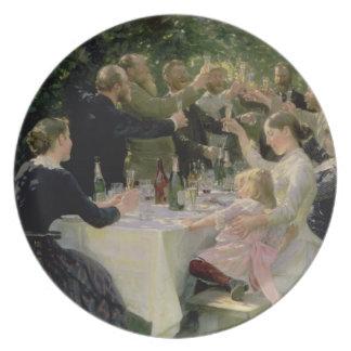 Hip Hip Hurrah! Artists' Party at Skagen, 1888 Melamine Plate