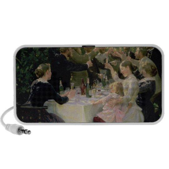 Hip Hip Hurrah! Artists' Party at Skagen, 1888 Portable Speaker