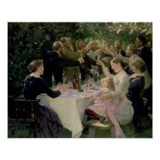 Hip Hip Hurrah! Artists' Party at Skagen, 1888 Poster