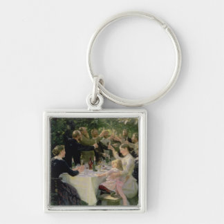 Hip Hip Hurrah! Artists' Party at Skagen, 1888 Silver-Colored Square Keychain