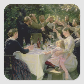 Hip Hip Hurrah! Artists' Party at Skagen, 1888 Square Stickers