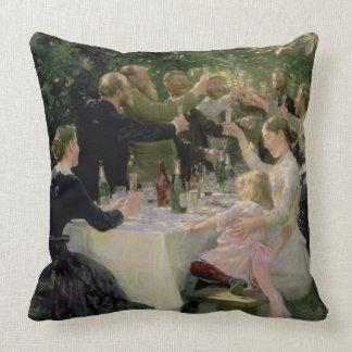 Hip Hip Hurrah! Artists' Party at Skagen, 1888 Throw Pillow
