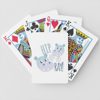 Hip Hip-po Ray Bicycle Playing Cards