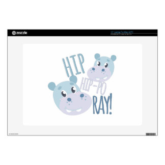 """Hip Hip-po Ray Skin For 15"""" Laptop"""