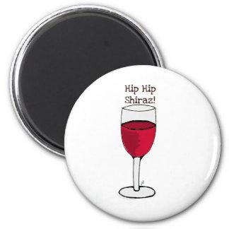 ¡HIP HIP SHIRAZ! impresión del vino de Jill Imán Redondo 5 Cm