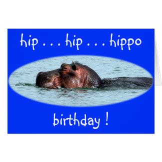 hip hippo birthday card