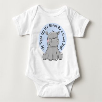 Hip Hippo Ray Happy Hippo Baby Bodysuit