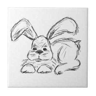 Hip Hop, A Bunny Rabbit Ceramic Tile