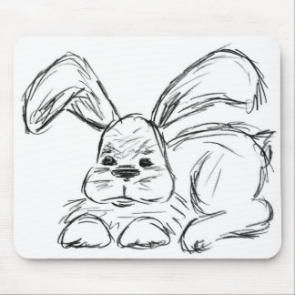 Hip Hop, A Bunny Rabbit Mouse Pad