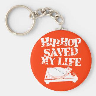 Hip Hop ahorró mi vida Llavero Redondo Tipo Pin