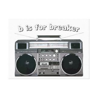 Hip Hop Art, b is for breaker canvas