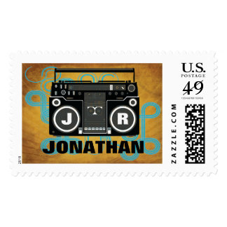 Hip Hop Bar Mitzvah Stamp Large