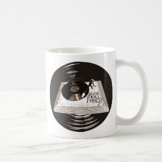 HIP HOP BEATS SKILL LYRICS ON TURNTABLE COFFEE MUG