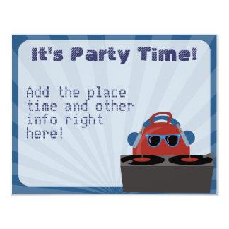 Hip Hop Bouncy Ball DJ Party Card