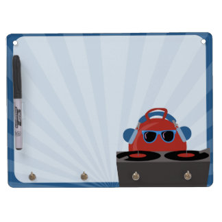 Hip Hop Bouncy Ball DJ Party Dry-Erase Boards