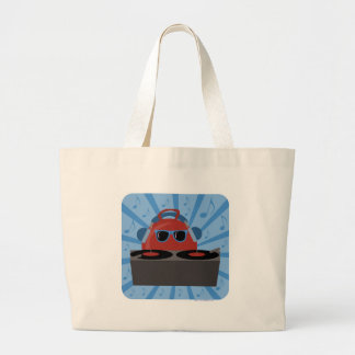 Hip Hop Bouncy Ball Large Tote Bag