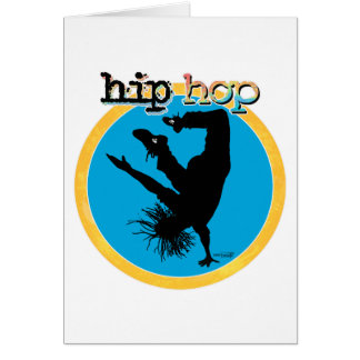 HIP HOP Break Dancer Greeting Card