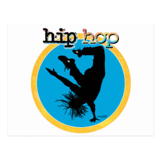 HIP HOP Break Dancer Postcard