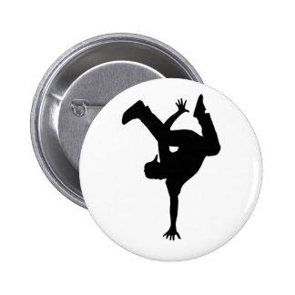 Hip hop breakdancer button