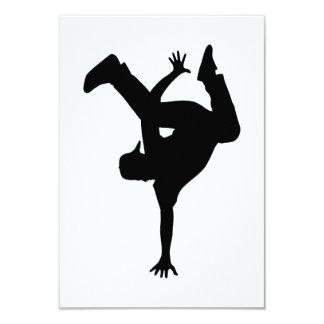 Hip hop breakdancer card