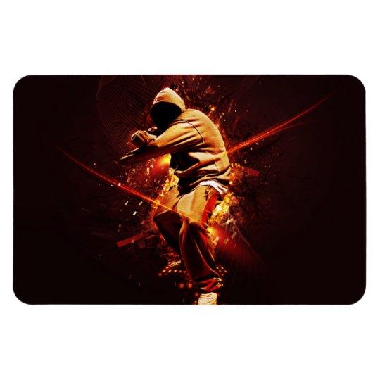 hip-hop breakdancer magnet