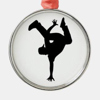 Hip hop breakdancer metal ornament