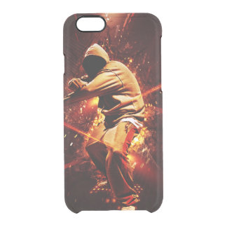 hip-hop breakdancer on fire clear iPhone 6/6S case