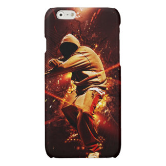 hip-hop breakdancer on fire glossy iPhone 6 case