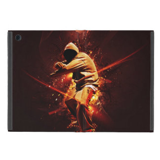 hip-hop breakdancer on fire iPad mini covers