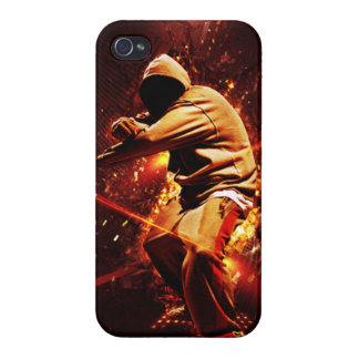 hip-hop breakdancer on fire iPhone 4 cover