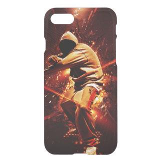 hip-hop breakdancer on fire iPhone 7 case