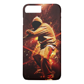 hip-hop breakdancer on fire iPhone 7 plus case