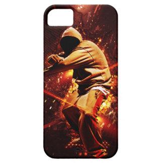 hip-hop breakdancer on fire iPhone SE/5/5s case