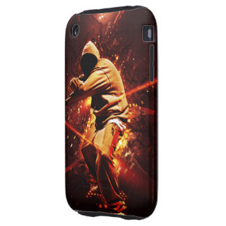 hip-hop breakdancer on fire tough iPhone 3 cover