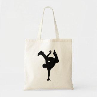 Hip hop breakdancer tote bag