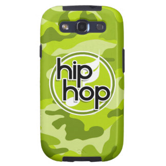 Hip Hop; bright green camo, camouflage Galaxy SIII Cases