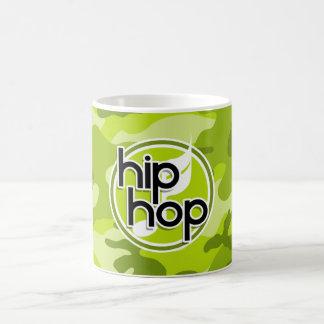 Hip Hop; bright green camo, camouflage Coffee Mugs