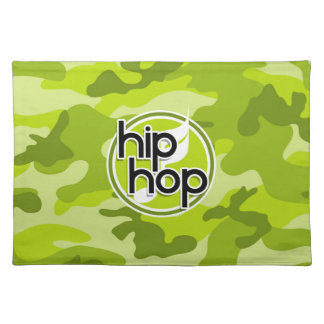 Hip Hop bright green camo camouflage Placemat