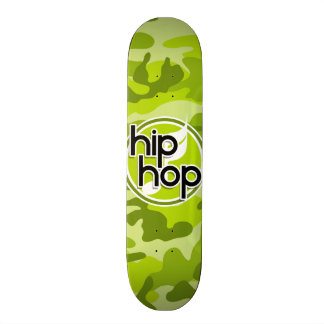 Hip Hop; bright green camo, camouflage Skateboards
