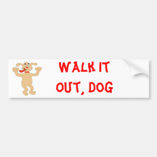 Hip Hop Cartoon Dancing Dog Bumper Sticker