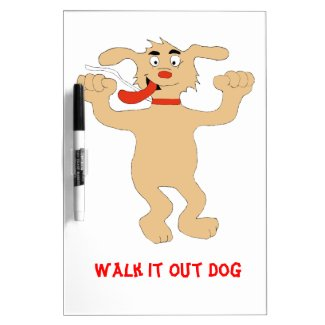 Hip Hop Cartoon Dancing Dog Dry-Erase Board