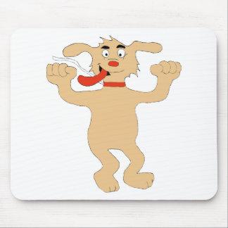 Hip Hop Cartoon Dancing Dog Mouse Pad